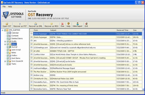 Recover Data from OST screenshot
